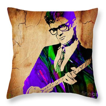 Buddy Holly Collection Throw Pillow by Marvin Blaine