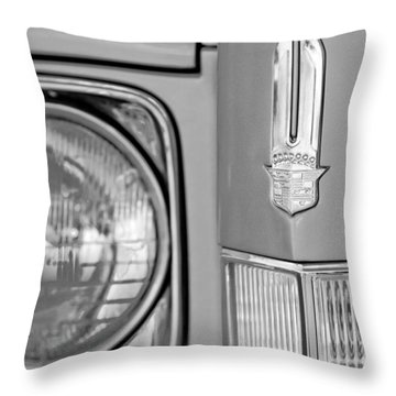 Cadillac Headlight Emblem Throw Pillow by Jill Reger