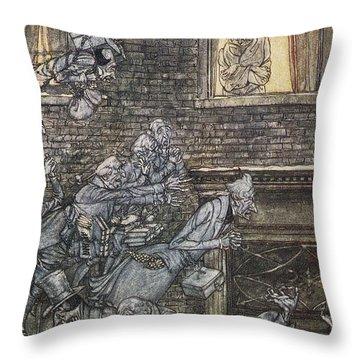 Christmas Carol Throw Pillow by Granger
