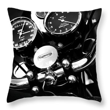 Classic Triumph Throw Pillow by Mark Rogan