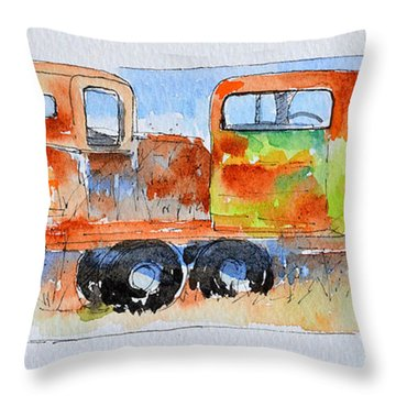 Companions Throw Pillow by Suzy Pal Powell
