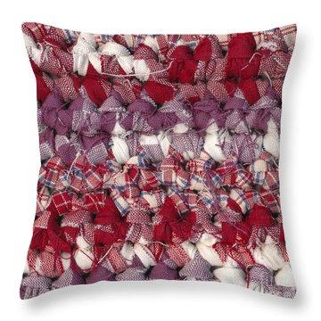 Crochet Rag Rug Throw Pillow by Kerstin Ivarsson