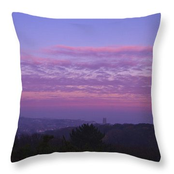 Cromer Sunrise  Throw Pillow by David French