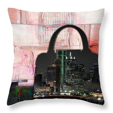 Dallas Texas Skyline In A Purse Throw Pillow by Marvin Blaine