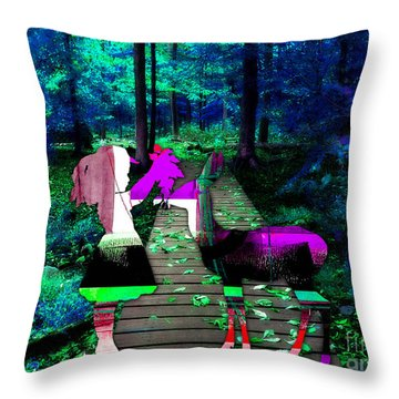 Deer Throw Pillow by Marvin Blaine