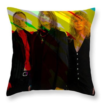 Def Leppard Throw Pillow by Marvin Blaine
