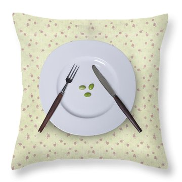 Diet Throw Pillow by Joana Kruse