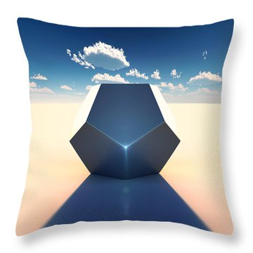 Dodecahedron Throw Pillow by Marc Orphanos