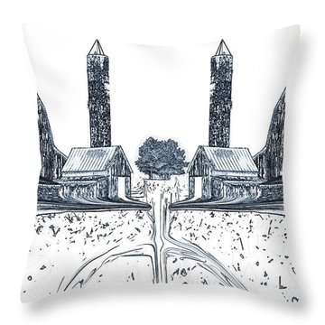 Down On The Farm Throw Pillow by Dan Sproul