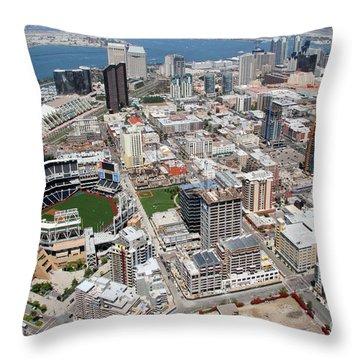 Downtown San Diego Throw Pillow by Bill Cobb