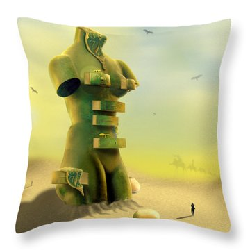 Drawers Throw Pillow by Mike McGlothlen