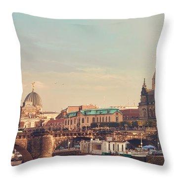 Dresden Throw Pillow by Steffen Gierok