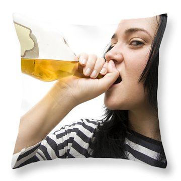 Drinking Detainee Throw Pillow by Jorgo Photography - Wall Art Gallery