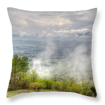 Dunlap Valley Throw Pillow by David Troxel