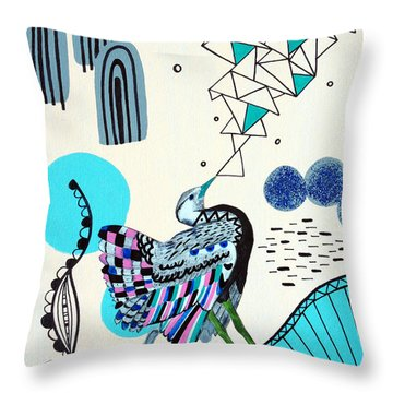 Fancy Face Throw Pillow by Susan Claire