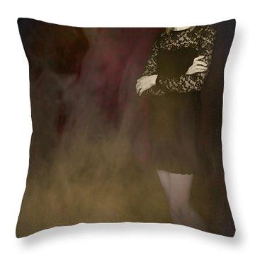 Fantasy Portrait Throw Pillow by Amanda Elwell