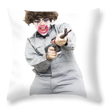 Female Psycho Killer Throw Pillow by Jorgo Photography - Wall Art Gallery