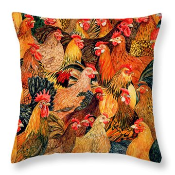 Fine Fowl Throw Pillow by Ditz