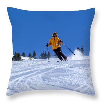 First Run Throw Pillow by Sebastian Musial