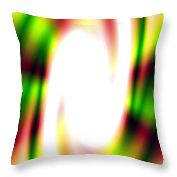 Flash Throw Pillow by Christopher Gaston