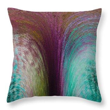 Fountain Art Throw Pillow by David Pyatt