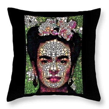 Frida Kahlo Art - Define Beauty Throw Pillow by Sharon Cummings