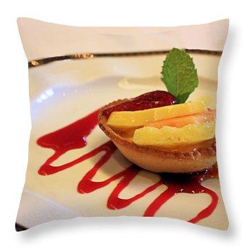 Fruit Tart Throw Pillow by Kristin Elmquist