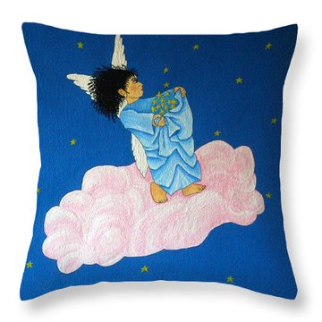 Gathering Starlight Throw Pillow by Pamela Allegretto