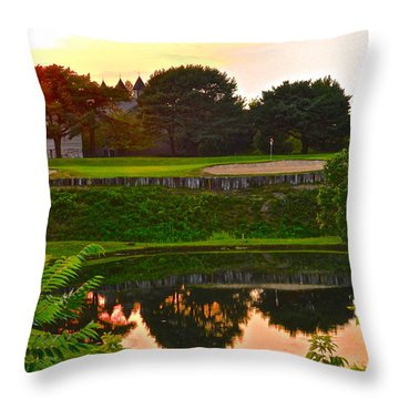 Golf Course Beauty Throw Pillow by Frozen in Time Fine Art Photography