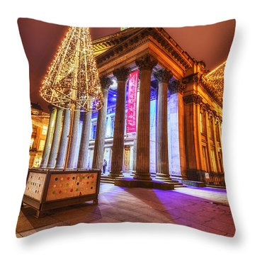 Goma Glasgow  Throw Pillow by John Farnan