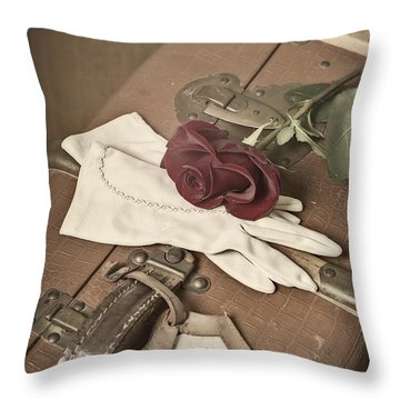 Goodbye Throw Pillow by Joana Kruse
