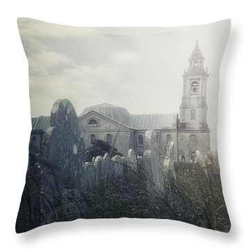 Graveyard Throw Pillow by Joana Kruse