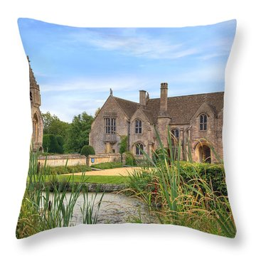 Great Chalfield Manor Throw Pillow by Joana Kruse
