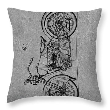 Harley Patent Throw Pillow by Dan Sproul