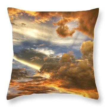 Heavenly Skies  Throw Pillow by Saija  Lehtonen