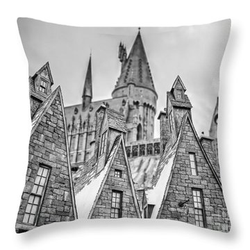 Postcard From Hogsmeade Throw Pillow by Edward Fielding
