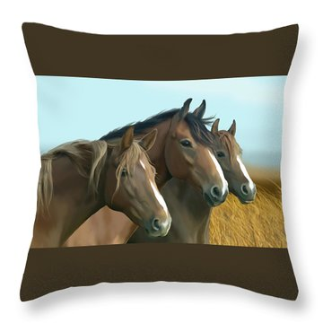 Hope Of The Mustangs Throw Pillow by Kate Black