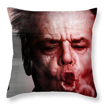 Jack Nicholson Throw Pillow by Marvin Blaine