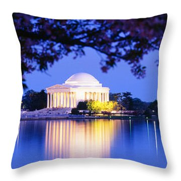 Jefferson Memorial, Washington Dc Throw Pillow by Panoramic Images