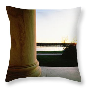 Jefferson Memorial Washington Dc Usa Throw Pillow by Panoramic Images