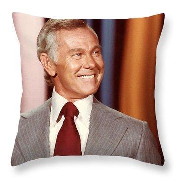 Johnny Carson Throw Pillow by Marvin Blaine