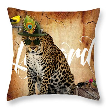 Leopard Collection Throw Pillow by Marvin Blaine