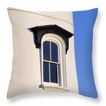 Lighthouse Window Throw Pillow by John Greim