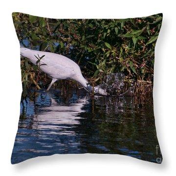 Little Blue Splash Throw Pillow by Photos By  Cassandra