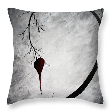 Lonely Heart Throw Pillow by Mike Grubb