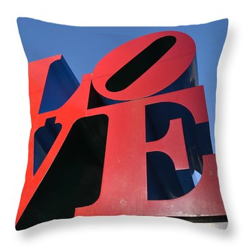 Love Throw Pillow by Bill Cannon