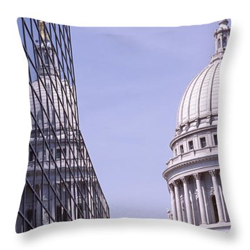 Low Angle View Of A Government Throw Pillow by Panoramic Images