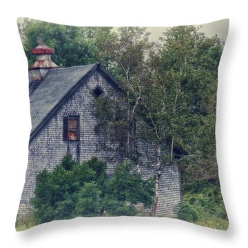 Maine Countryside Throw Pillow by Richard Bean
