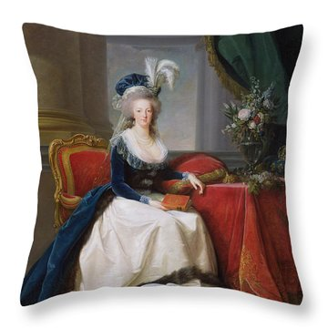 Marie Antoinette Throw Pillow by Elisabeth Louise Vigee-Lebrun