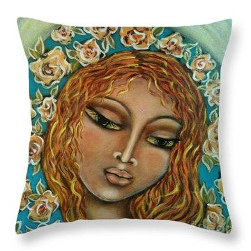 Mary Mary Throw Pillow by Maya Telford